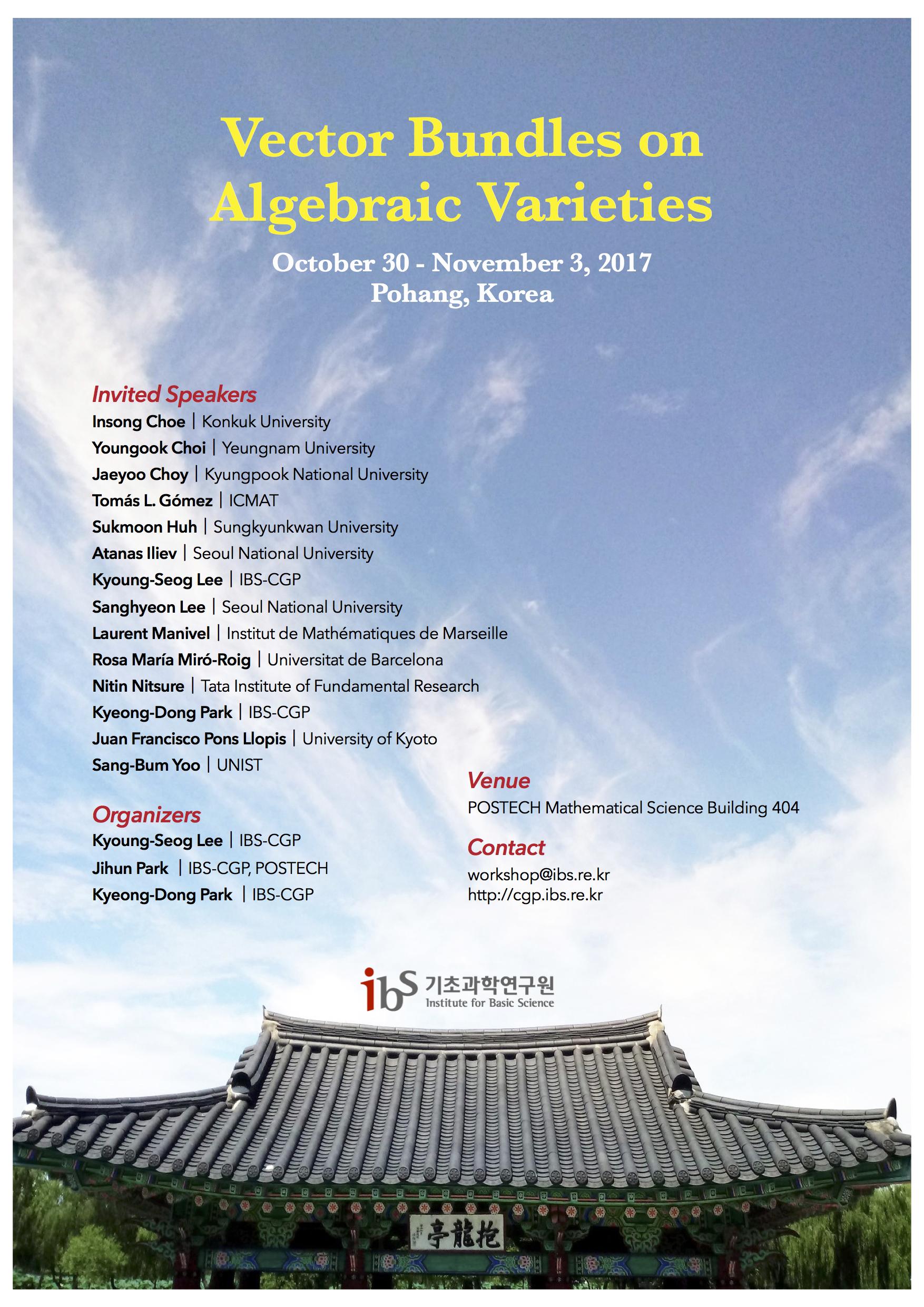 Vector bundles on algebraic varieties